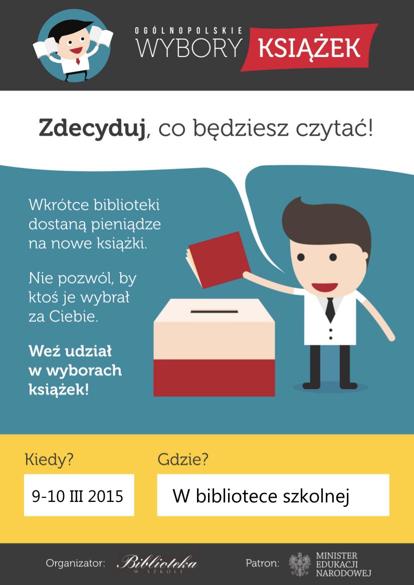 Ogólnopolskie Wybory Książek 9 I 10 Marzec Szkoła